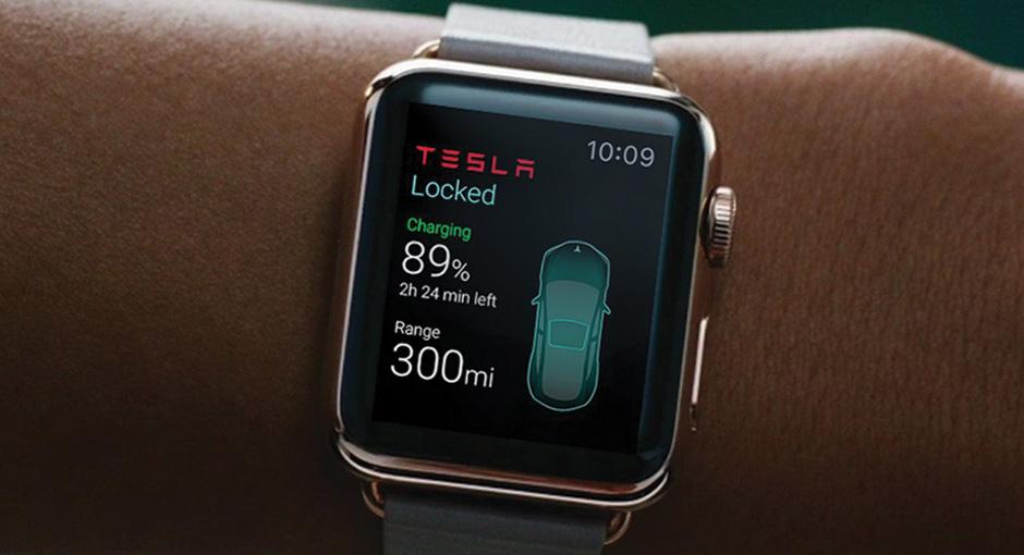Tesla Motors Unveils Apple Watch App