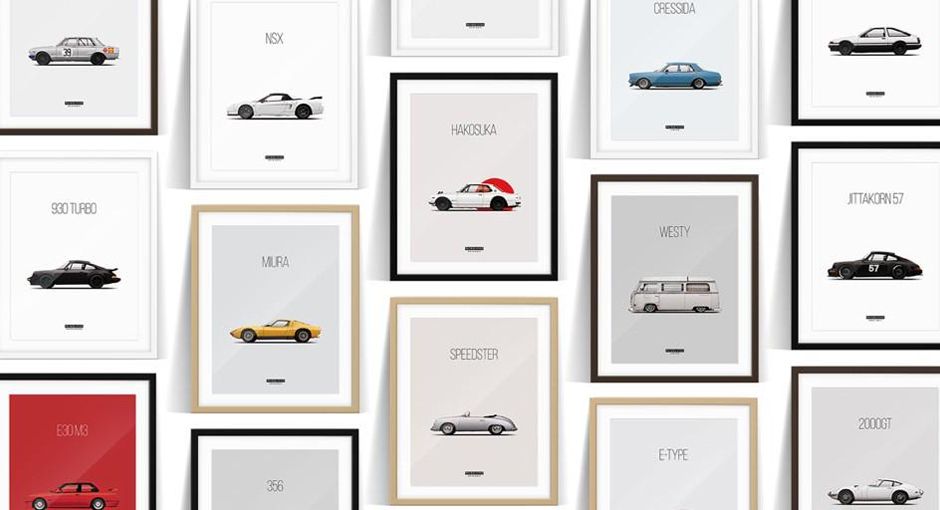 Petrolified | Minimalist Representations of Great Cars