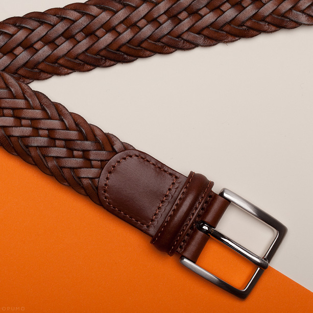 Opumo-ANDERSONS-BELTS-Brown-Calf-Leather-Woven-Belt