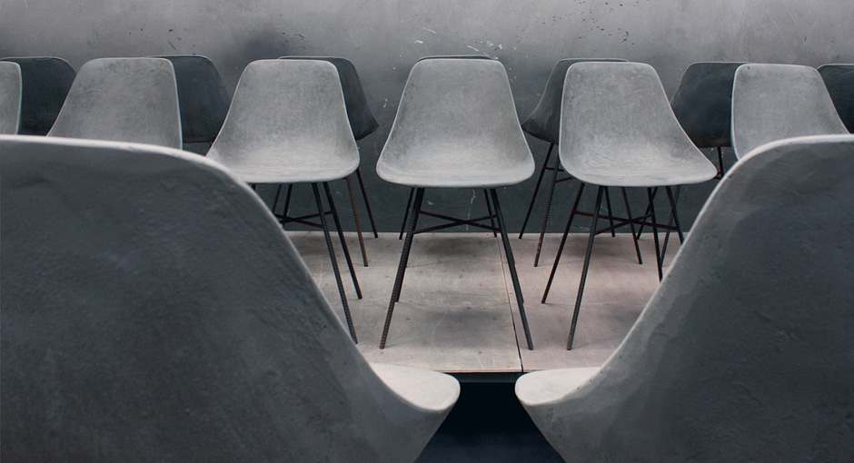 Concrete Shell Chair by HLB Studios
