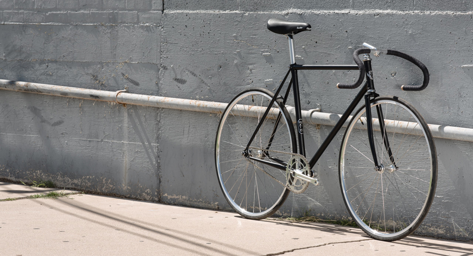 Matte Black Retro Bicycle by State Bicycle