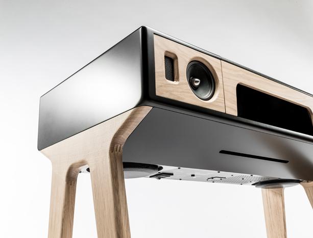 lp 160 speaker by la boite concept opumo magazine. Black Bedroom Furniture Sets. Home Design Ideas
