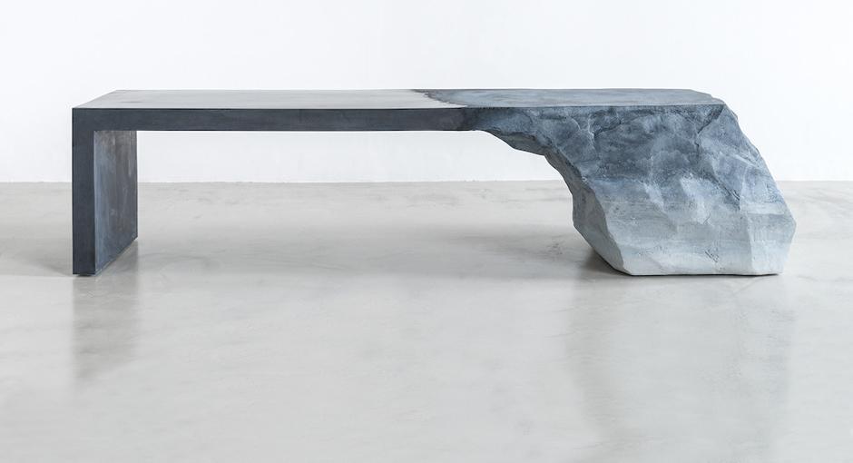 Sand + Cement Bench by Fernando Mastrangelo