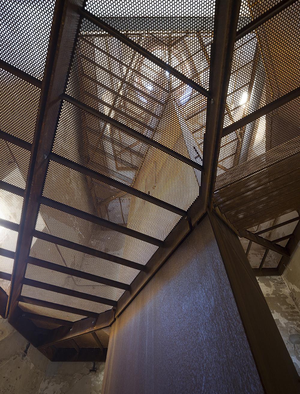 Rubjerg Knude Lighthouse - transparent stair
