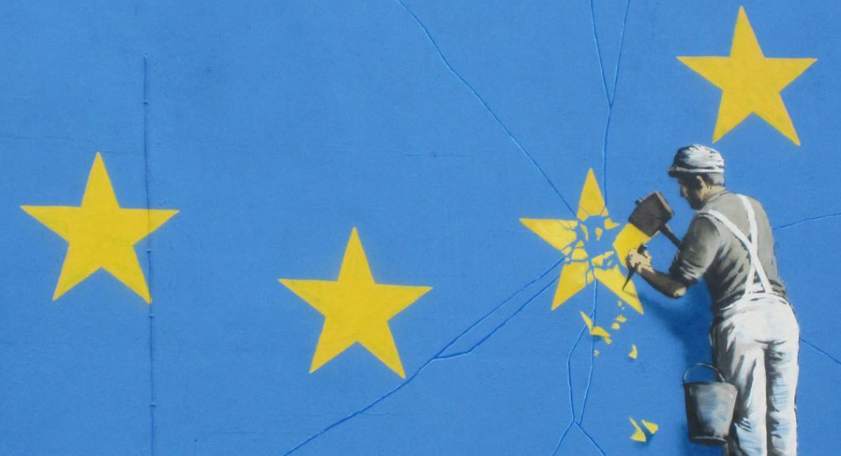 Banksy Unveils New Mural Reflecting the State of the EU