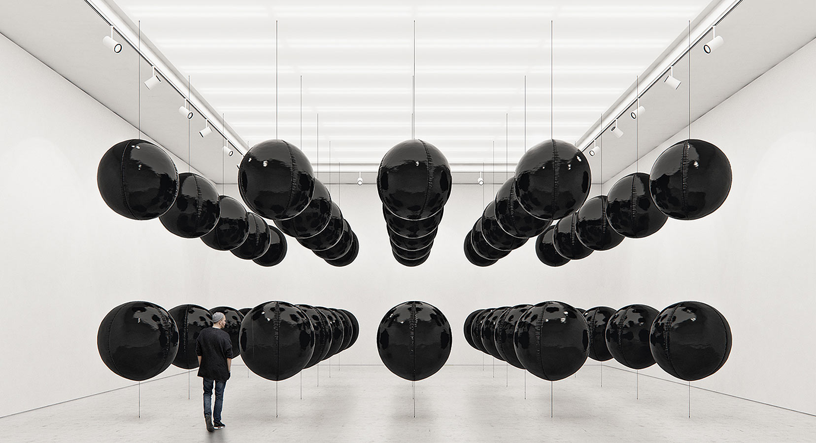 Black Balloons by Tadao Cern