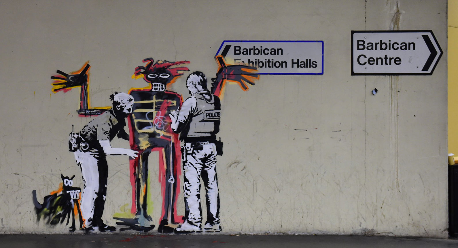 Banksy Strikes Again With Two New Murals That Pay Tribute to Basquiat at the Barbican