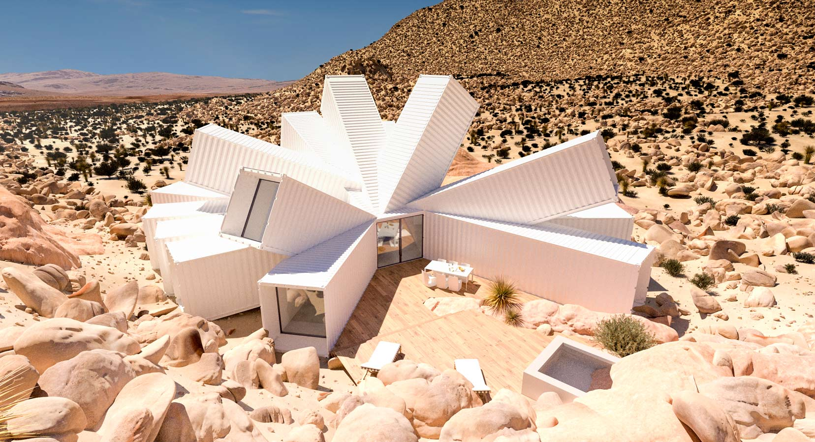 James Whitaker Creates Home In The Desert Made Out Of Shipping Containers