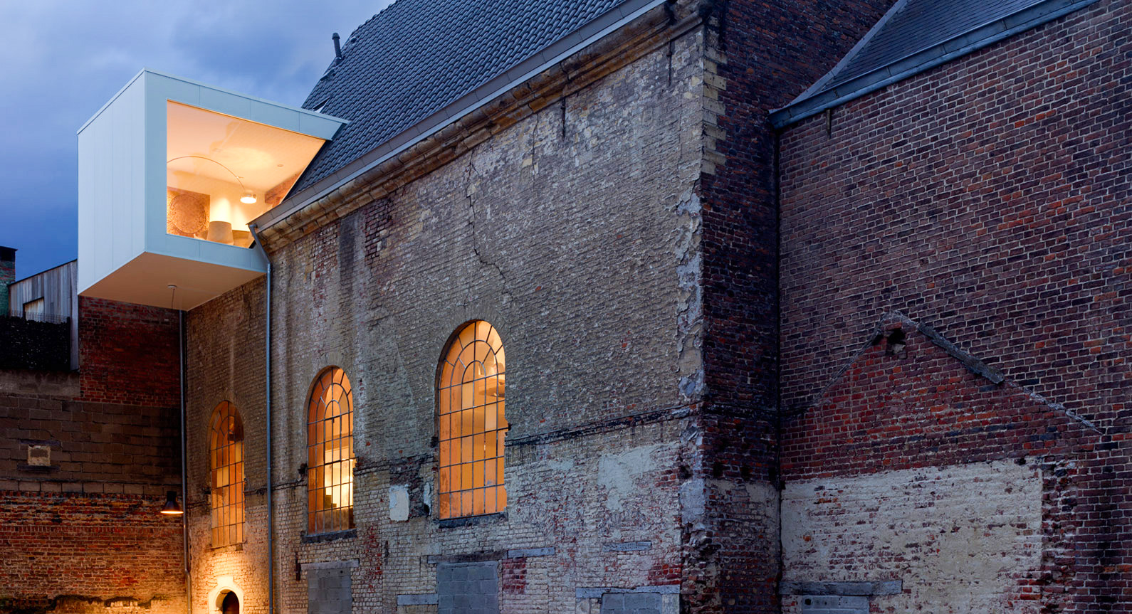 Simple White Boxes Transform This Ancient Chapel In Belgium