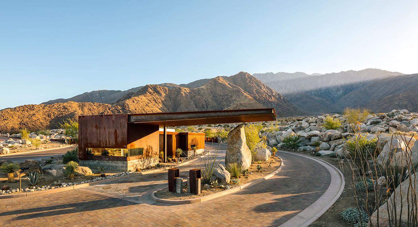 Explore The Desert Palisades Guardhouse in Coachella Valley, California