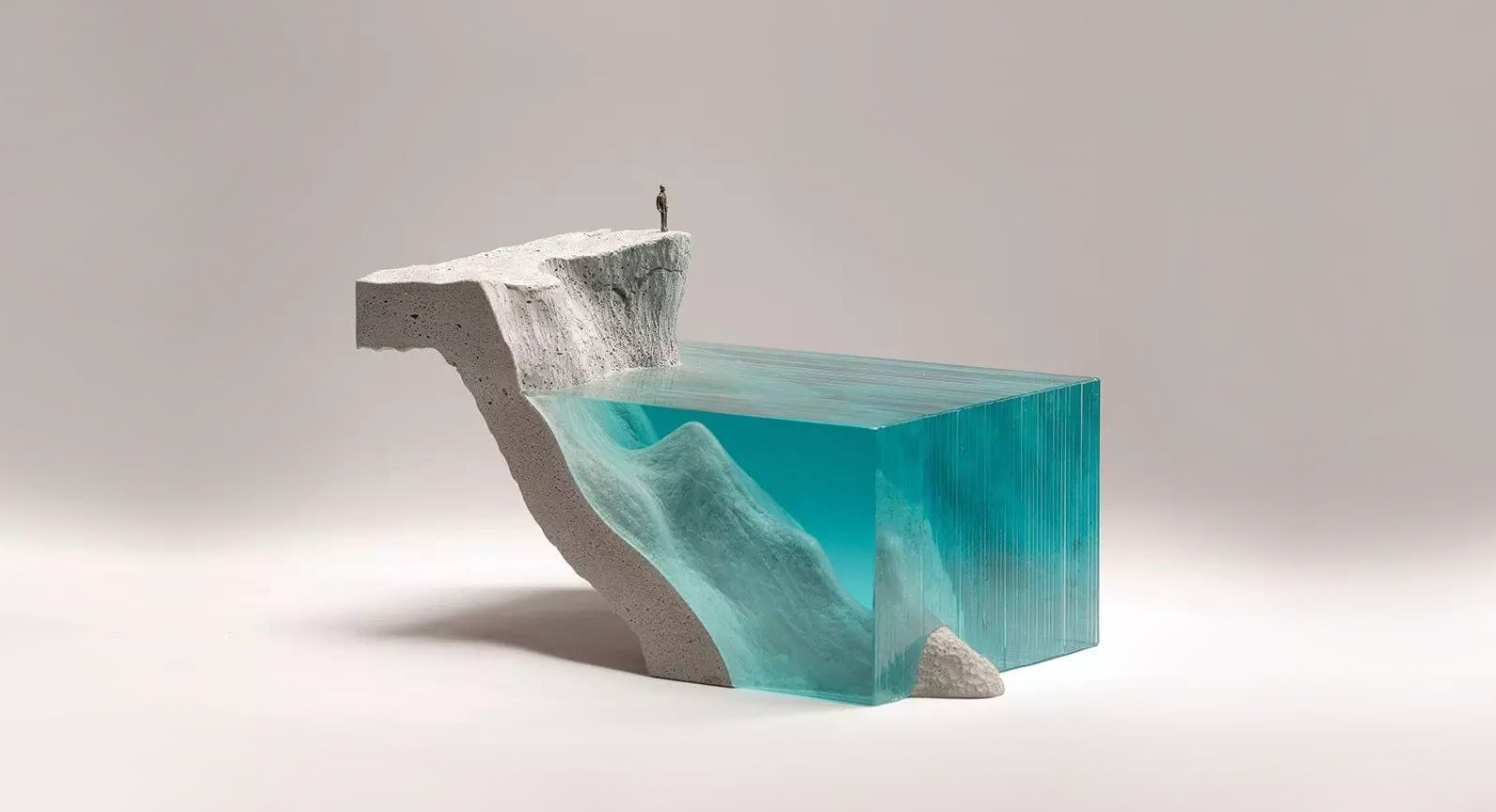 Ben Young Transforms Hand-Cut Glass Into Unique Aquatic Landscapes