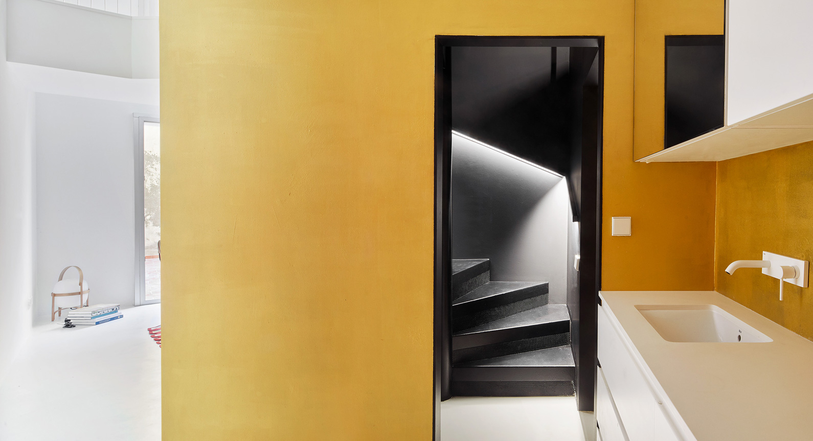 How Golden Boxes Transformed A Barcelona Apartment