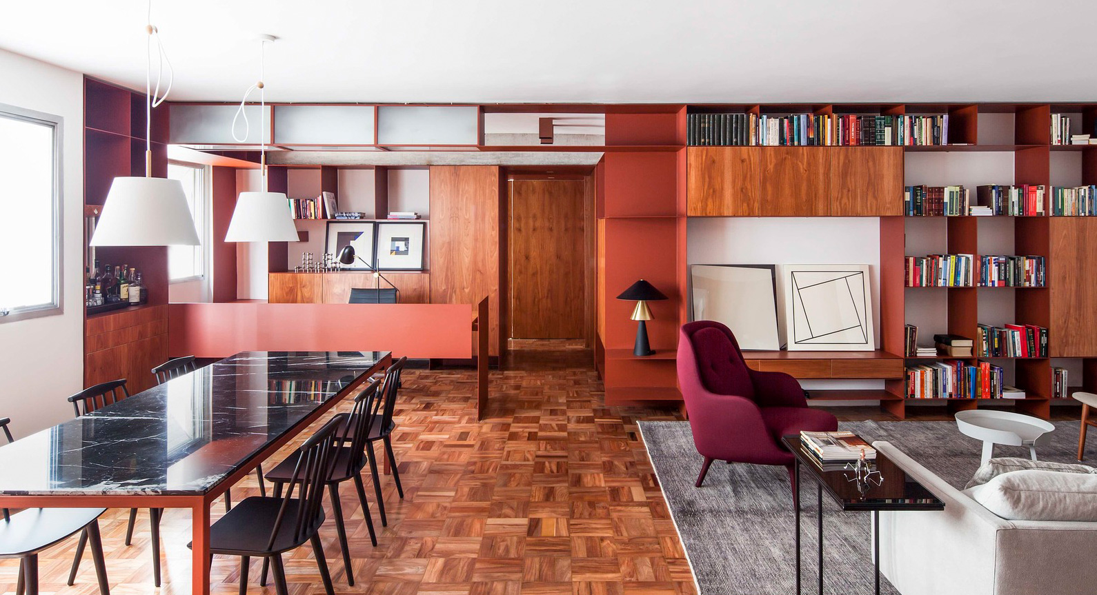 A City Centre Apartment Is Transformed By Terracotta At The Hands Of AR Arquitetos