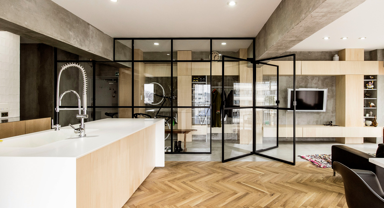 How Jazz And A Simple Revolving Door Transformed This Tokyo Apartment
