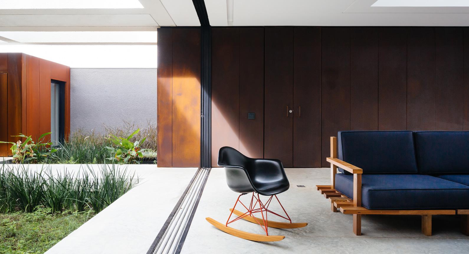 How Rusting Steel And White Concrete Create Aleph Zero's Stunning Brazilian Seaside Home