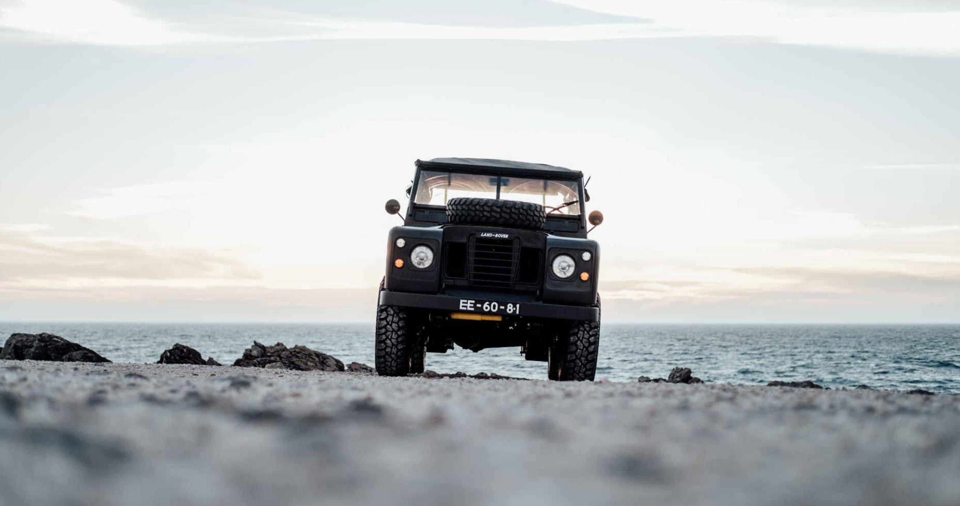 The Matte Black 1979 Land Rover Series III Built For Any Beach Trip