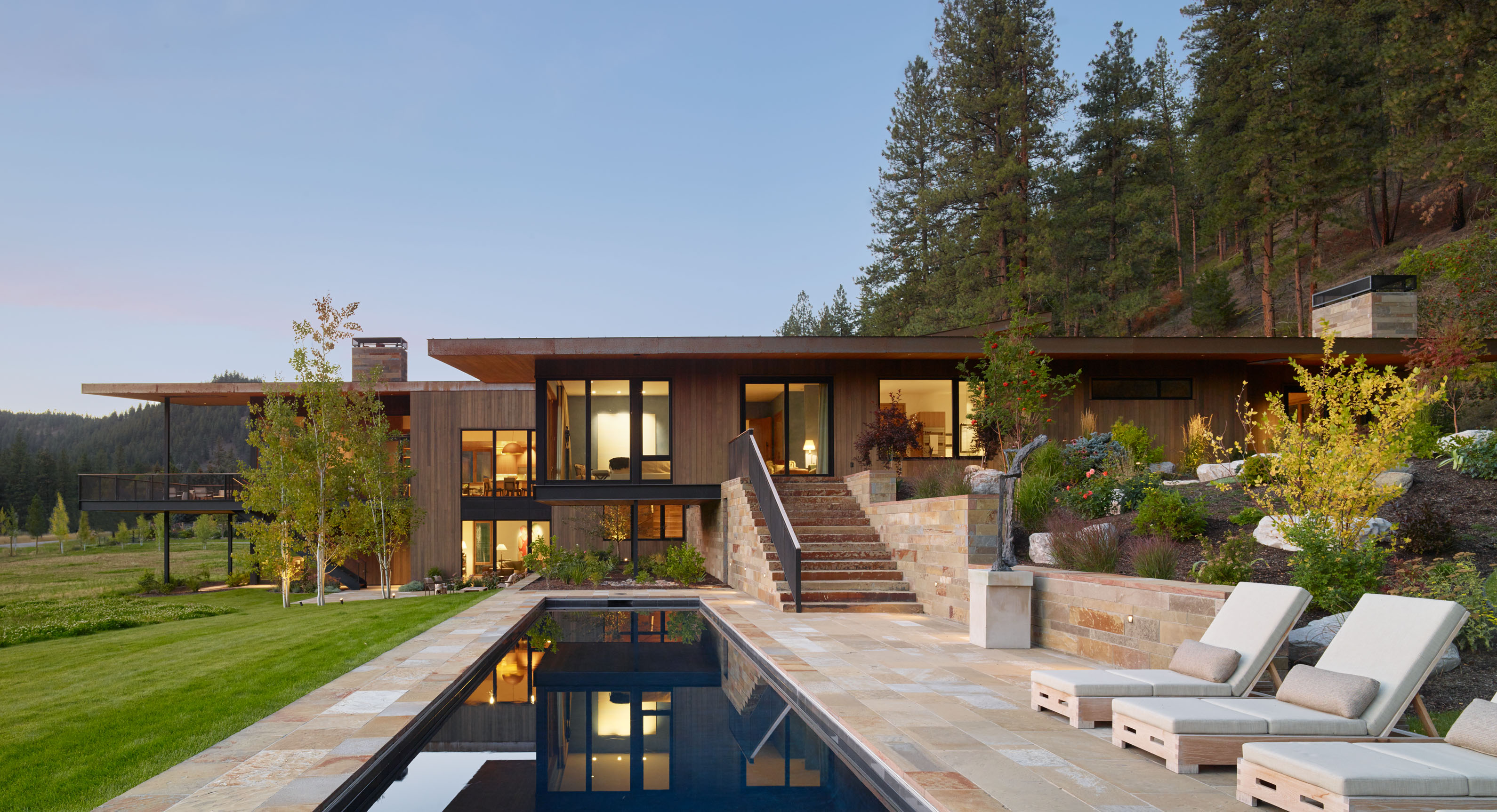 Carney Logan Burke Create A Montana Retreat For Art Collectors | OPUMO