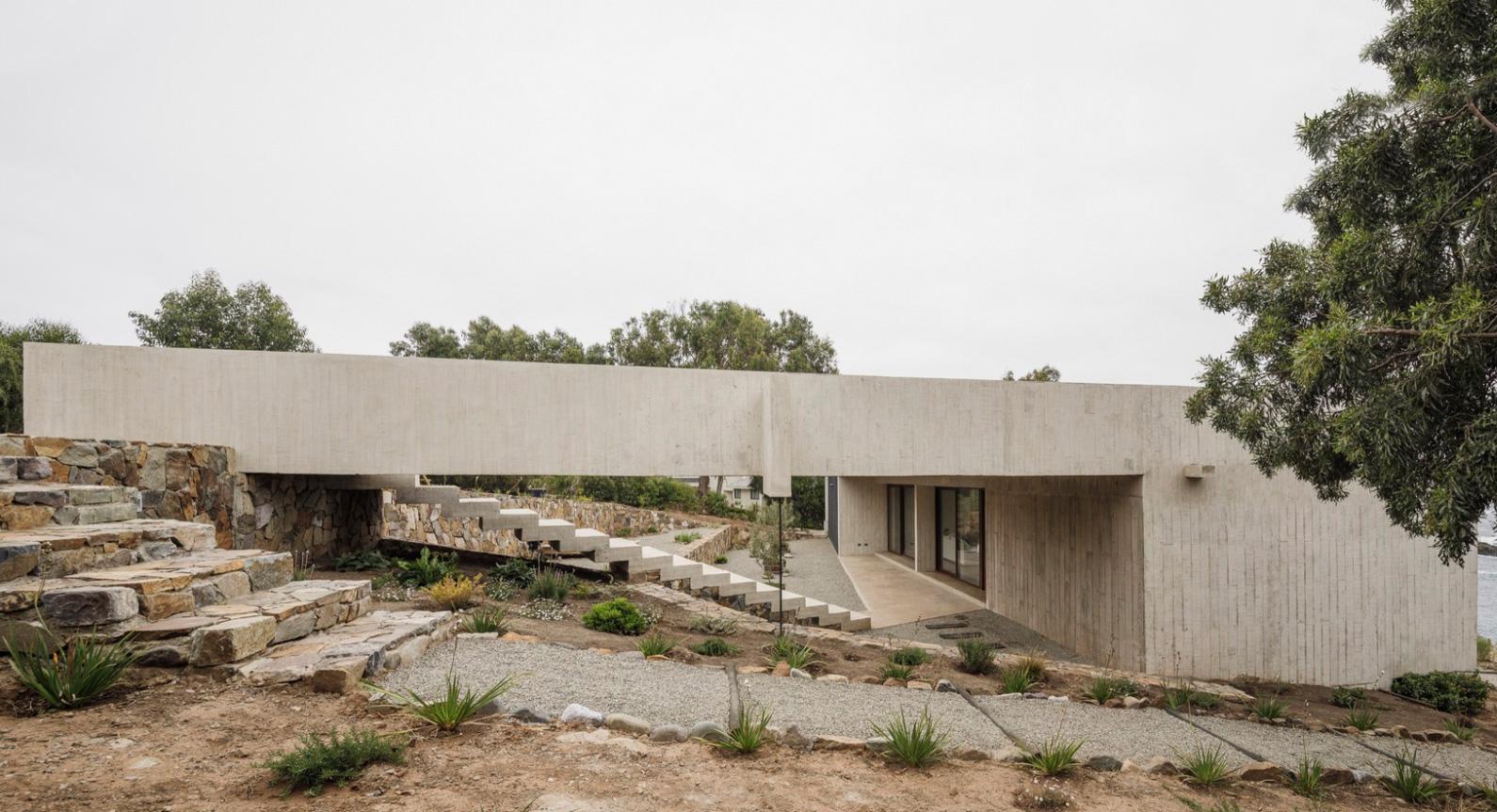 Casa Cipolla Is A Concrete Shelter Above Chile's Spectacular Coastline