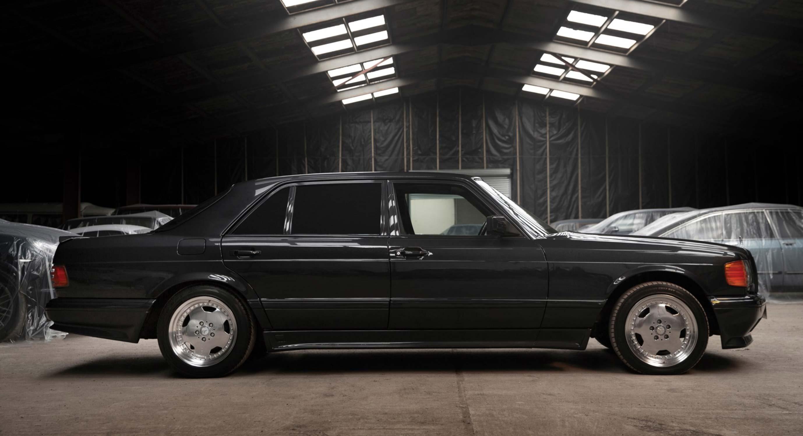 this 1991 mercedes 560 sel 6 0 amg sedan is as mean as. Black Bedroom Furniture Sets. Home Design Ideas